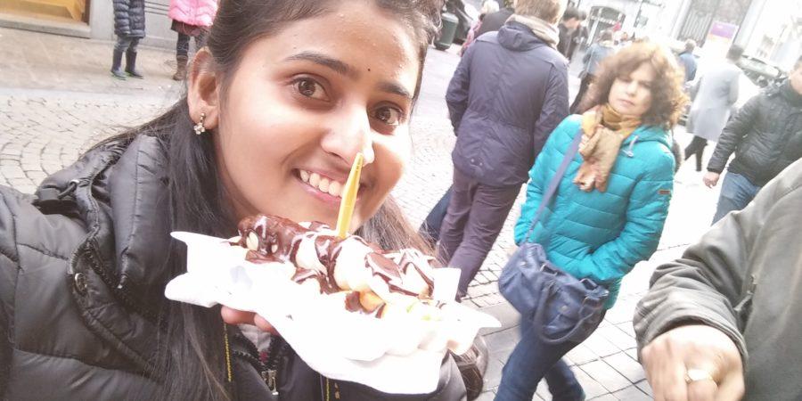 Belgian chocolate waffle