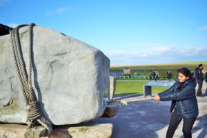 Trying to move the Sarsen stone