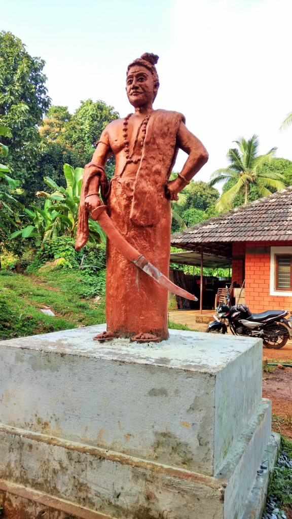 Statue of Pazhassi Raja infront of temple