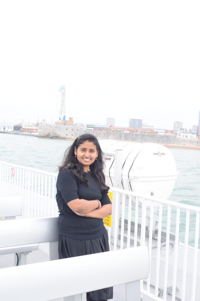 Click from the upper deck of Catamaran