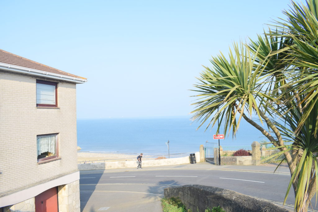 Glimpse of the beautiful Shanklin beach from the street