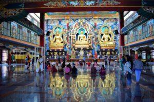 Namdroling Monastery: The Prayer Hall