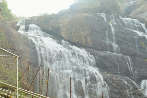 Close view of waterfalls